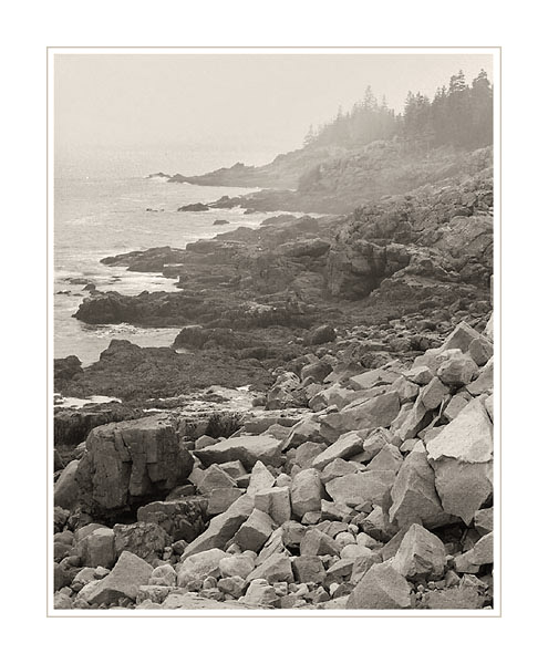 Picture: Rocky coastline, Acadia National Park, Maine