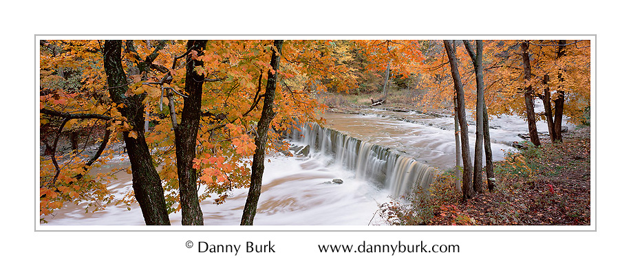 Anderson Falls Waterfall Photo Indiana image fall color panorama