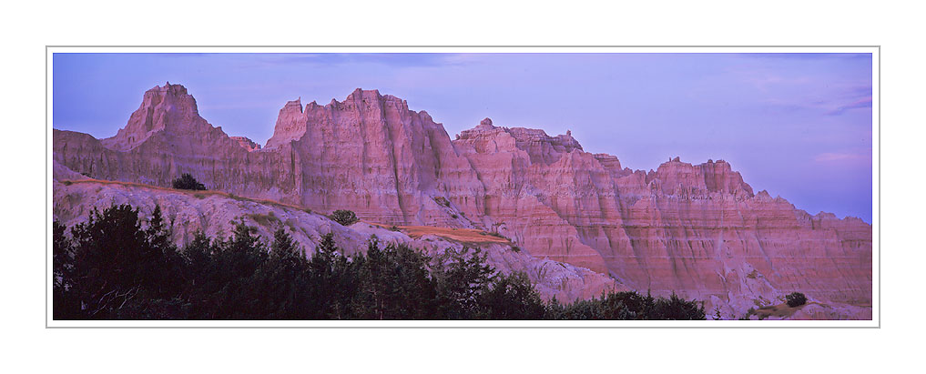 Picture: Dusk, Badlands National Park, South Dakota