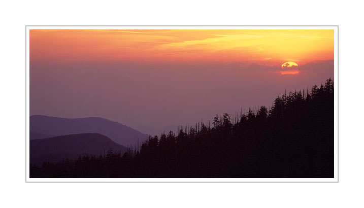 Picture: Sunset from Clingman's Dome, Great Smoky Mountains National Park