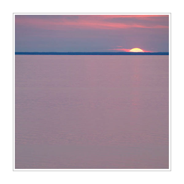 Picture: Sunset, Lake Michigan, Door County, Wisconsin