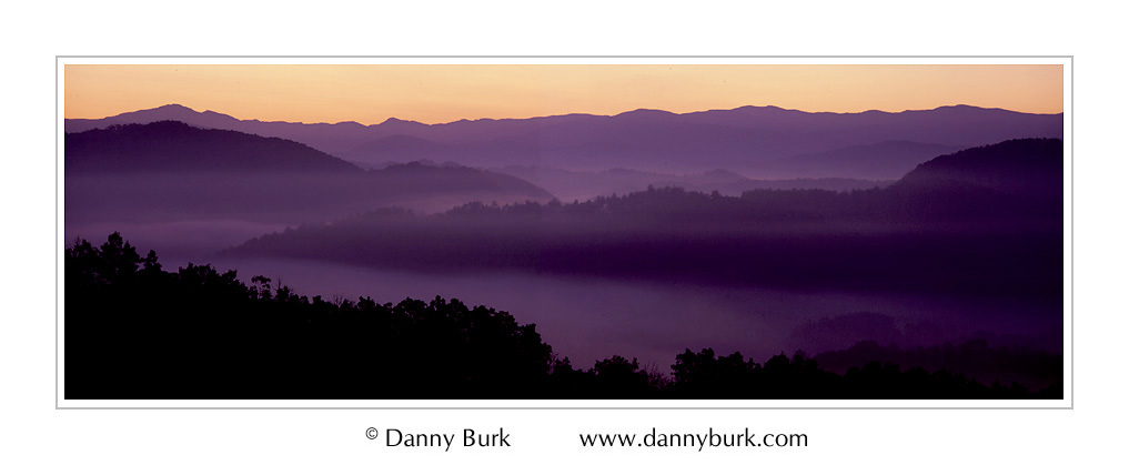 Picture: Dawn, Foothills Parkway, Great Smoky Mountains National Park, Tennessee