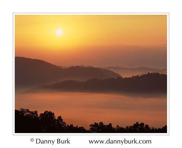 Picture: Sunrise and fog, Foothills Parkway, Great Smoky Mountains National Park, Tennessee