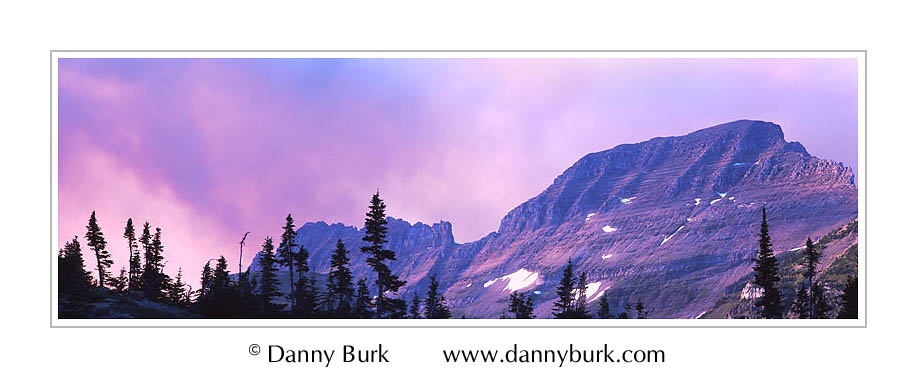 Picture: Sunset panorama, Garden Wall, Glacier National Park, Montana