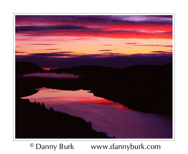Picture: Sunrise, Lake of the Clouds, Porcupine Mountains State Park, Upper Peninsula, Michigan