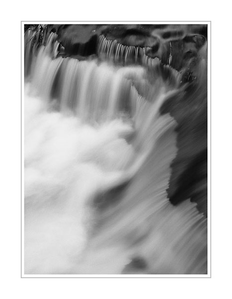 Picture: Cascade above Laughing Whitefish Falls, Upper Peninsula, Michigan