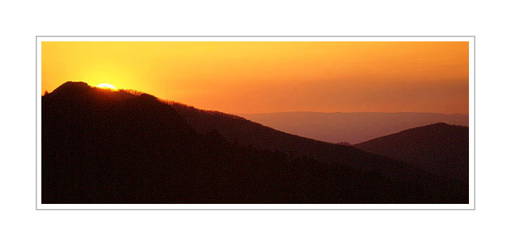 Picture: Sunset, Morton's Overlook, Great Smoky Mountains National Park