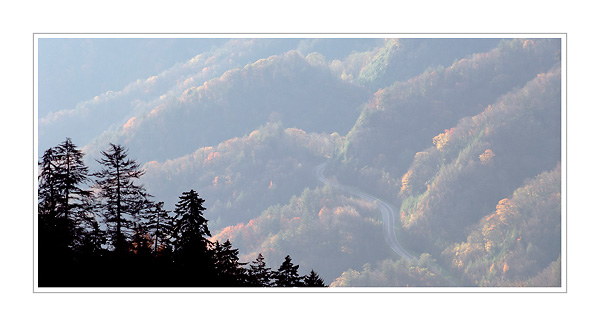 Picture: Sunrise, Newfound Gap, Great Smoky Mountains National Park