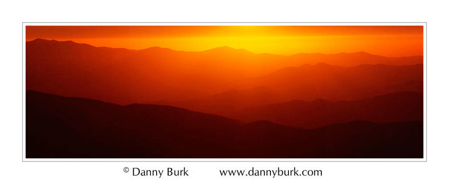 Fiery sunset, Clingman's Dome, Great Smoky Mountains National Park, Tennessee