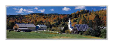 Picture: Fall color panorama, Town of East Corinth, Vermont