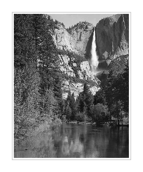 Picture: Upper Yosemite Falls from Swinging Bridge, Yosemite National Park, California