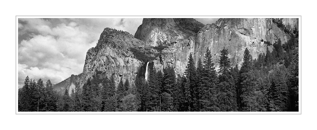 Picture: Three Brothers and Bridalveil Falls, Valley View, Yosemite National Park, California