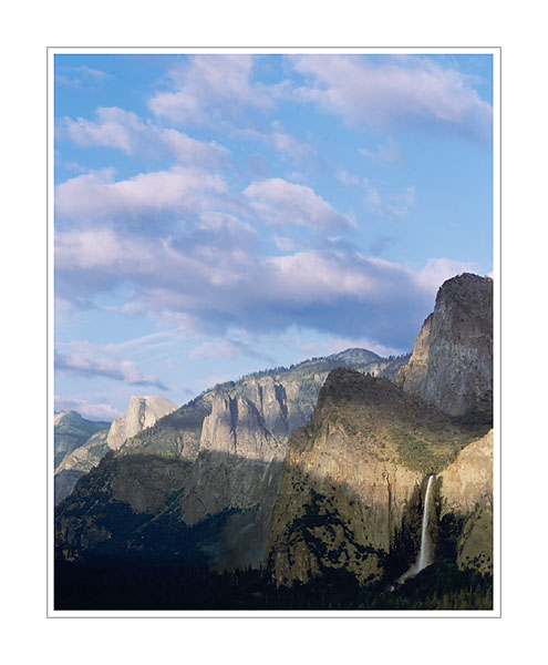 Picture: Three Brothers, Bridalveil Falls, and Half Dome from Tunnel View, Yosemite National Park