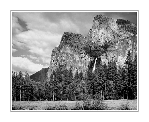 Picture: Cathedral Rocks and Bridalveil Falls from Valley View, Yosemite National Park, California
