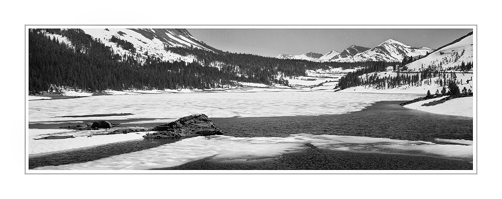 Picture: Ice breakup, Tioga Lake, Yosemite National Park, California