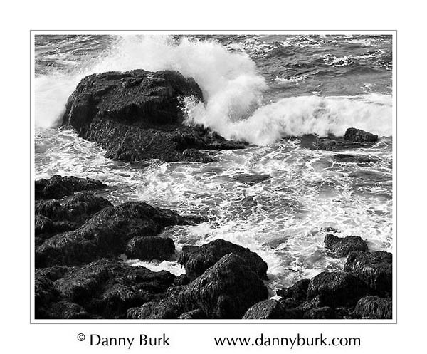 Picture: Crashing surf, near Otter Point, Acadia National Park, Maine