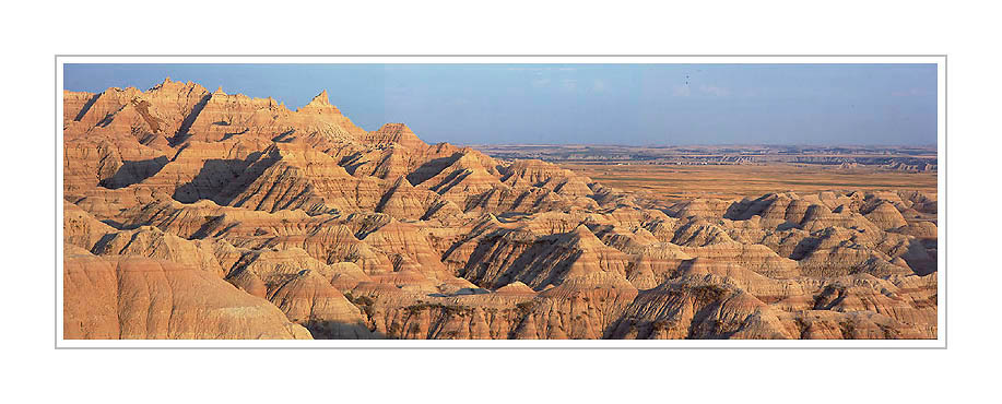 Picture: near sunset, Badlands National Park, South Dakota