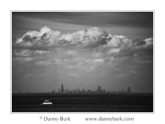 Infrared: Chicago Skyline from West Beach, Indiana Dunes National Lakeshore
