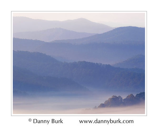 Picture: Foothills Parkway mist at dawn, Great Smoky Mountains National Park, Tennessee