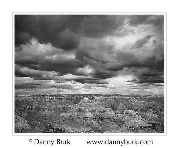 Picture: Storm clouds over Powell Point, Grand Canyon National Park, Arizona