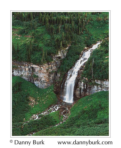 Picture: Waterfall below Going-to-the-Sun Road, Glacier National Park, Montana