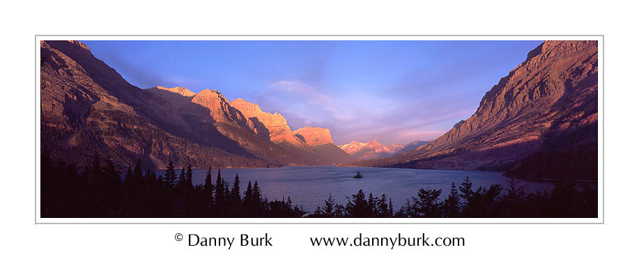Picture: Sunrise panorama, Wild Goose overlook, Glacier National Park, Montana
