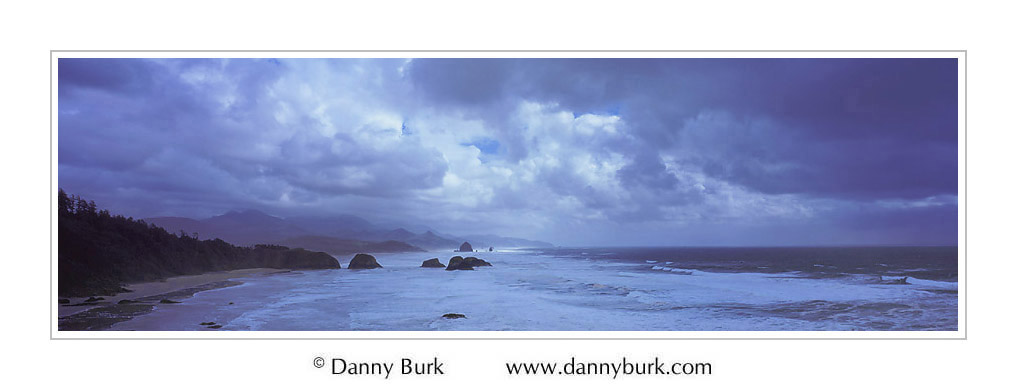 Picture: Storm clouds, Cannon Beach, Oregon - Panorama