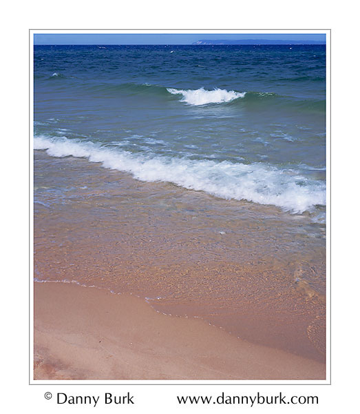 Picture: Surf and Manitou Island, Sleeping Bear Dunes National Lakeshore, Michigan
