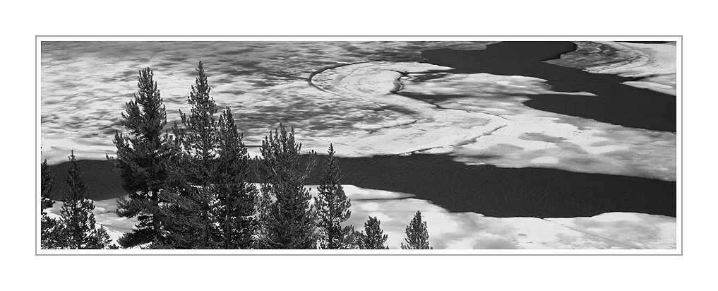 Picture: Ice patterns, Tioga Lake, Yosemite National Park, California