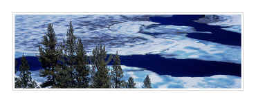 Picture: Cracked ice, Tioga Lake, Yosemite National Park, California